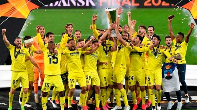Villarreal salió campeón de la Europa League tras superar al Manchester United.