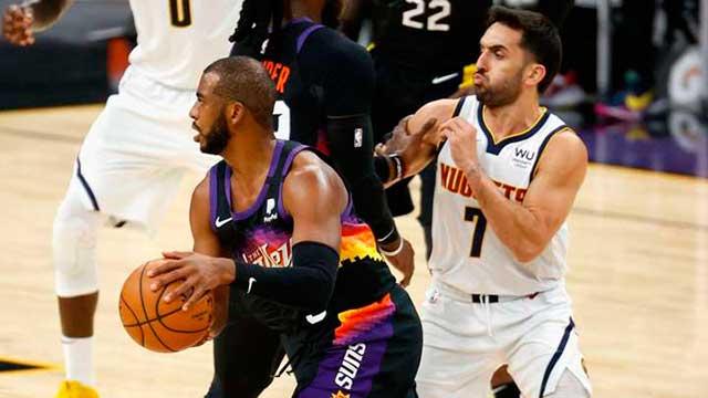 Con Campazzo, Denver recibió una durísima derrota ante Phoenix en la NBA.