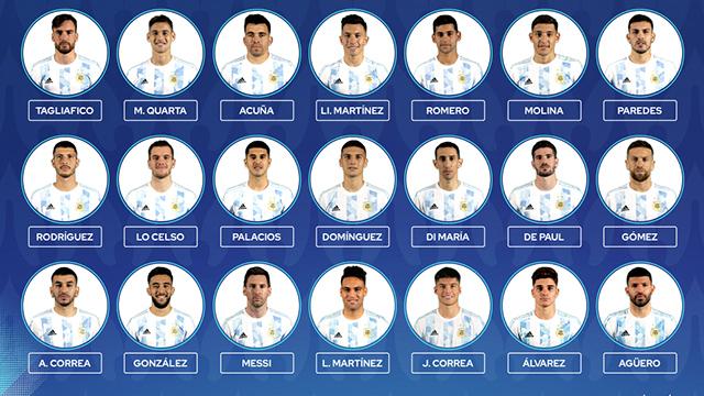 Argentina realizó un cambio de último momento.