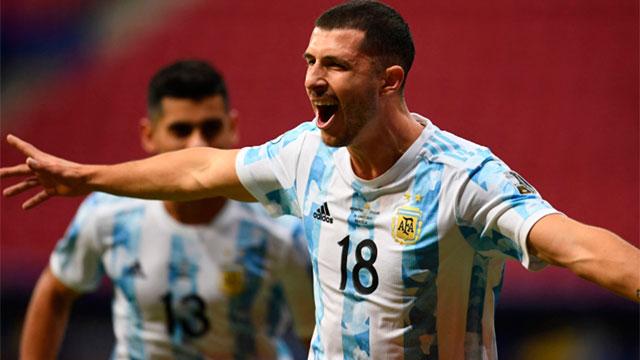 Argentina, con gol de Guido Rodríguez, le gana 1-0 a Uruguay por la Copa América