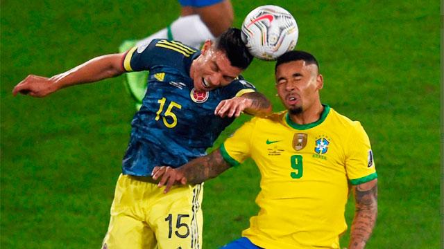Brasil lo dio vuelta ante Colombia y lo ganó en el descuento.