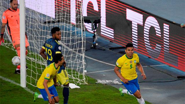 Con polémica, Brasil lo dio vuelta ante Colombia y lo ganó en el descuento.