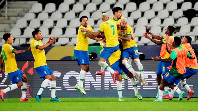 Copa América: Con polémica, Brasil lo dio vuelta ante Colombia y lo ganó en el descuento