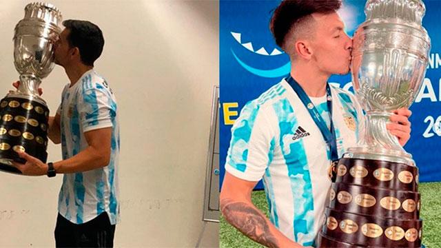 Roberto Ayala y Lisandro Martínez, los entrerrianos campeones.