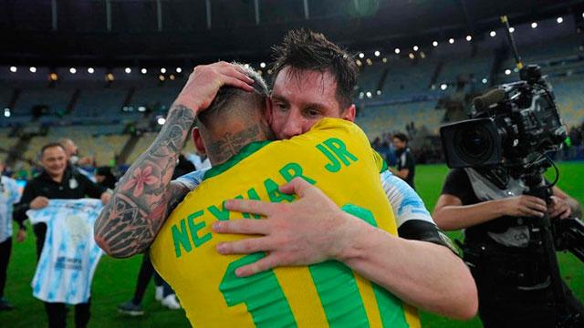 """""""Odio perder, pero disfrutá tu título"""", dijo Neymar."""