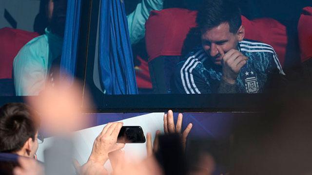 El regreso triunfal de los campeones de la Copa América.