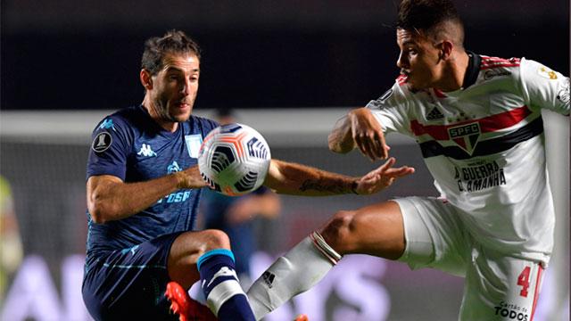 Racing logró un valioso empate ante San Pablo en el Morumbí.