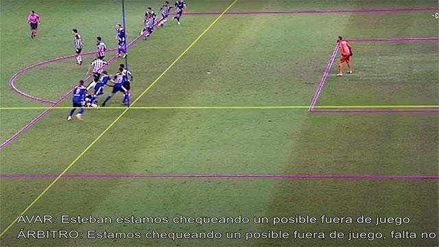 El audio del VAR en el gol anulado de Boca ante Atlético Mineiro.