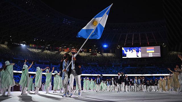 Así fue el emocionante desfile de la delegación argentina.