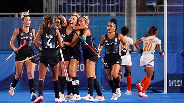 Hockey olímpico: Las Leonas dan vuelta el partido y vencen 2-1 a India en el segundo tiempo