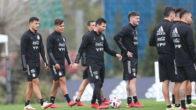 Messi y compañía se entrenaron en Ezeiza.