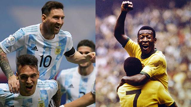 Messi puede alcanzar a Pelé.