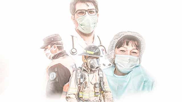 La AFA homenajeó al personal de salud y de seguridad.