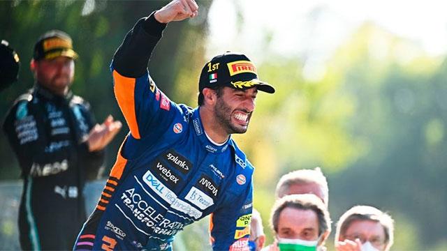 Daniel Ricciardo (McLaren), cantó victoria en Monza.