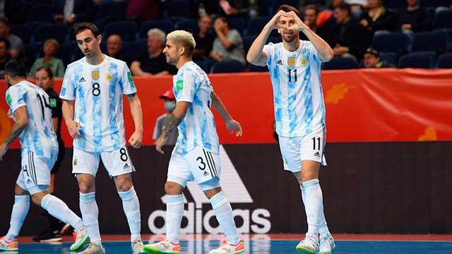 Espectacular goleada de Argentina en el debut en el Mundial de Fútsal.