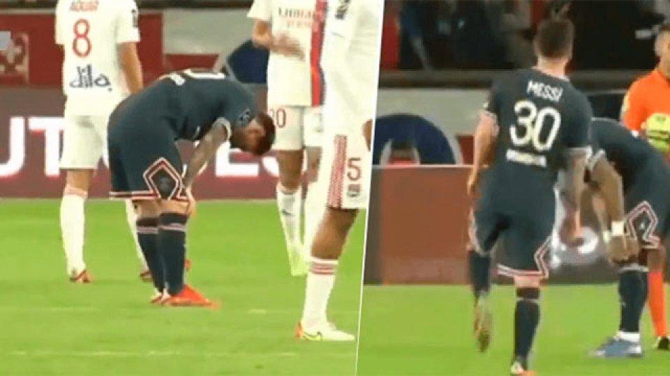El momento que las cámaras captaron la lesión de Messi en el PSG.