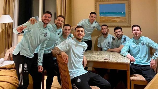 Messi compartió fotos inéditas de la intimidad de la Selección Argentina