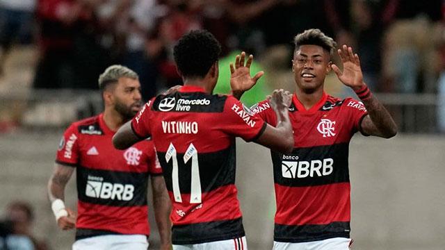 Flamengo le ganó a Barcelona, por una de las semis de la Copa Libertadores.