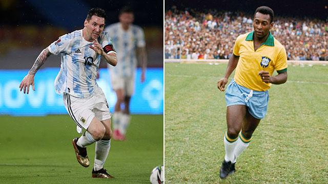 Pelé le dedicó un mensaje a Lionel Messi por el récord con la Selección