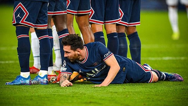 La inédita imagen de Lionel Messi en la Champions que recorre el mundo.