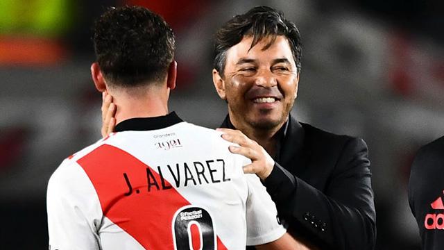 """""""Julián Álvarez no necesita que lo destaque, lo hace por sí mismo"""", dijo Gallardo"""